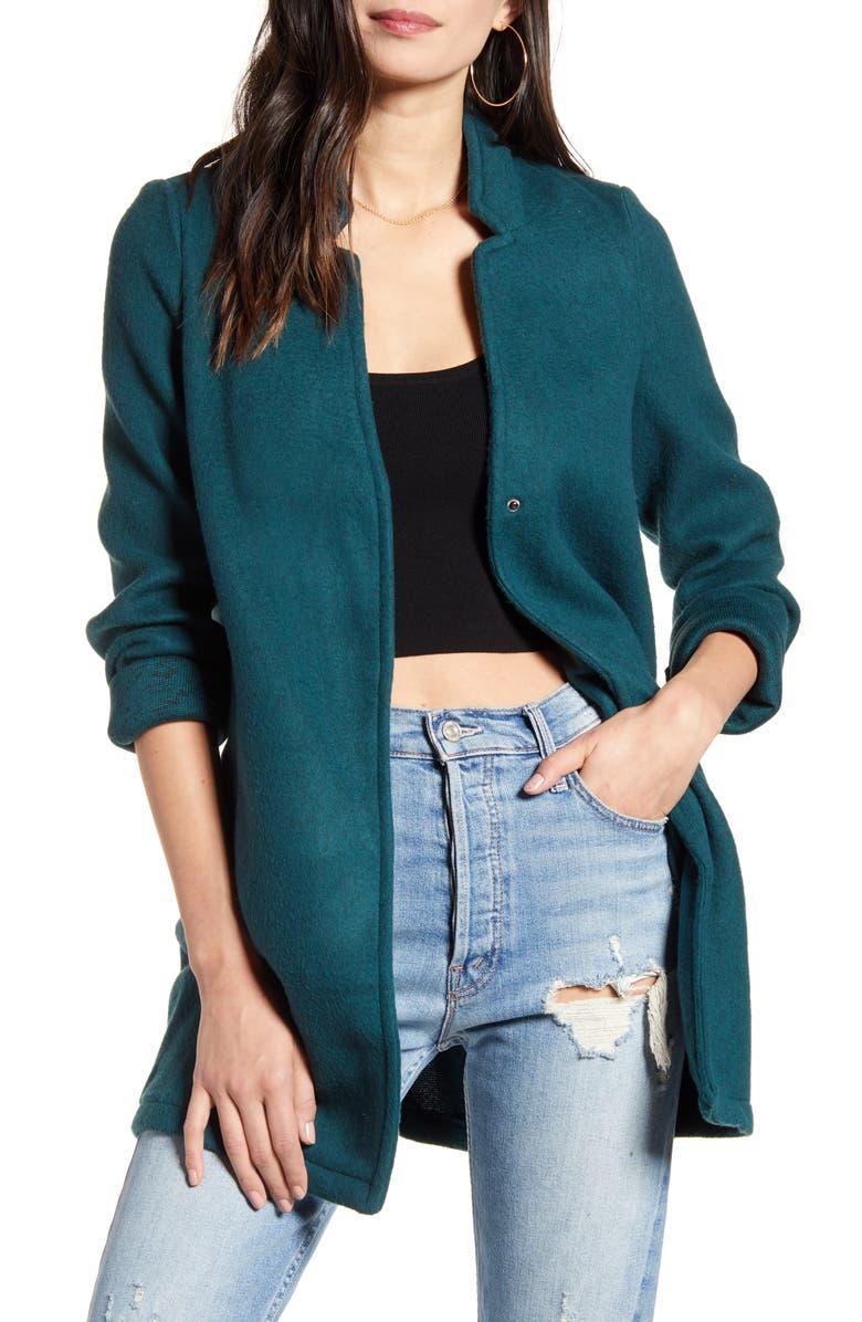 VERO MODA Katrine Brushed Fleece Jacket, Main, color, PONDEROSA PINE