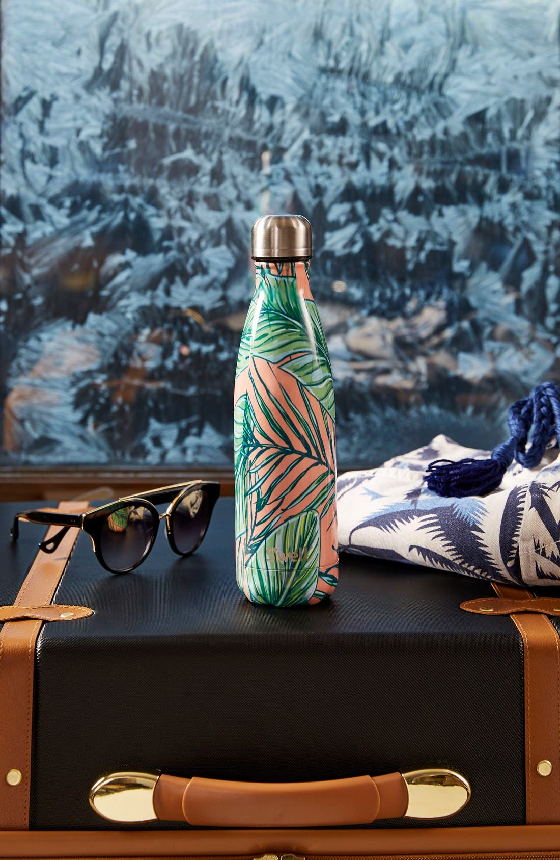 ,                             Palm Beach Stainless Steel Water Bottle,                             Alternate thumbnail 3, color,                             650