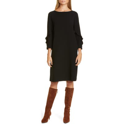 Lafayette 148 New York Abigail Finesse Crepe Dress, Black