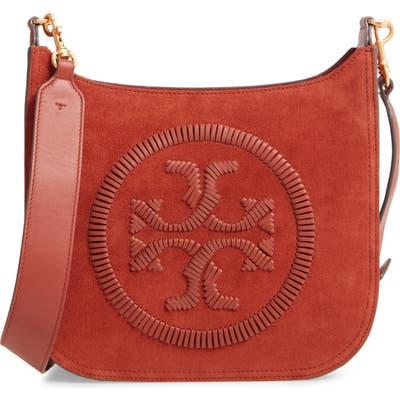Tory Burch Ella Whipstitch Leather Crossbody Bag - Brown