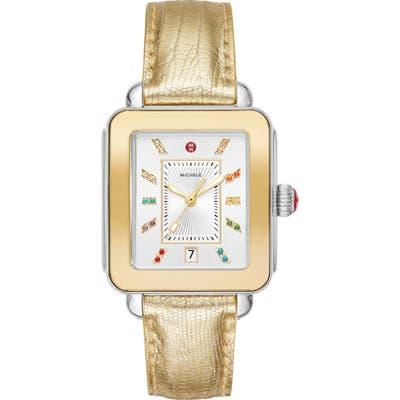 Michele Deco Sport Watch Head & Silicone Strap Watch, mm
