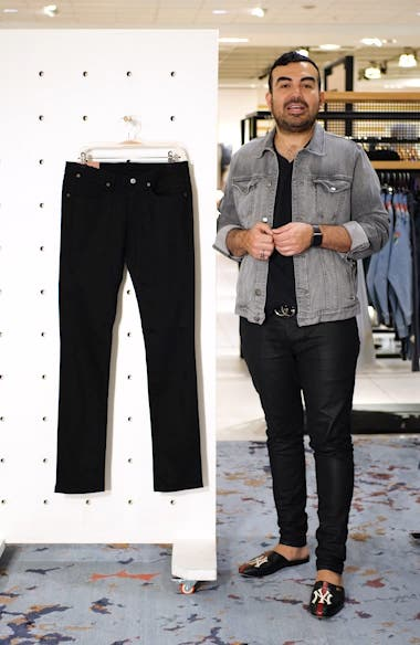 River Used Mamba Skinny Fit Jeans, sales video thumbnail
