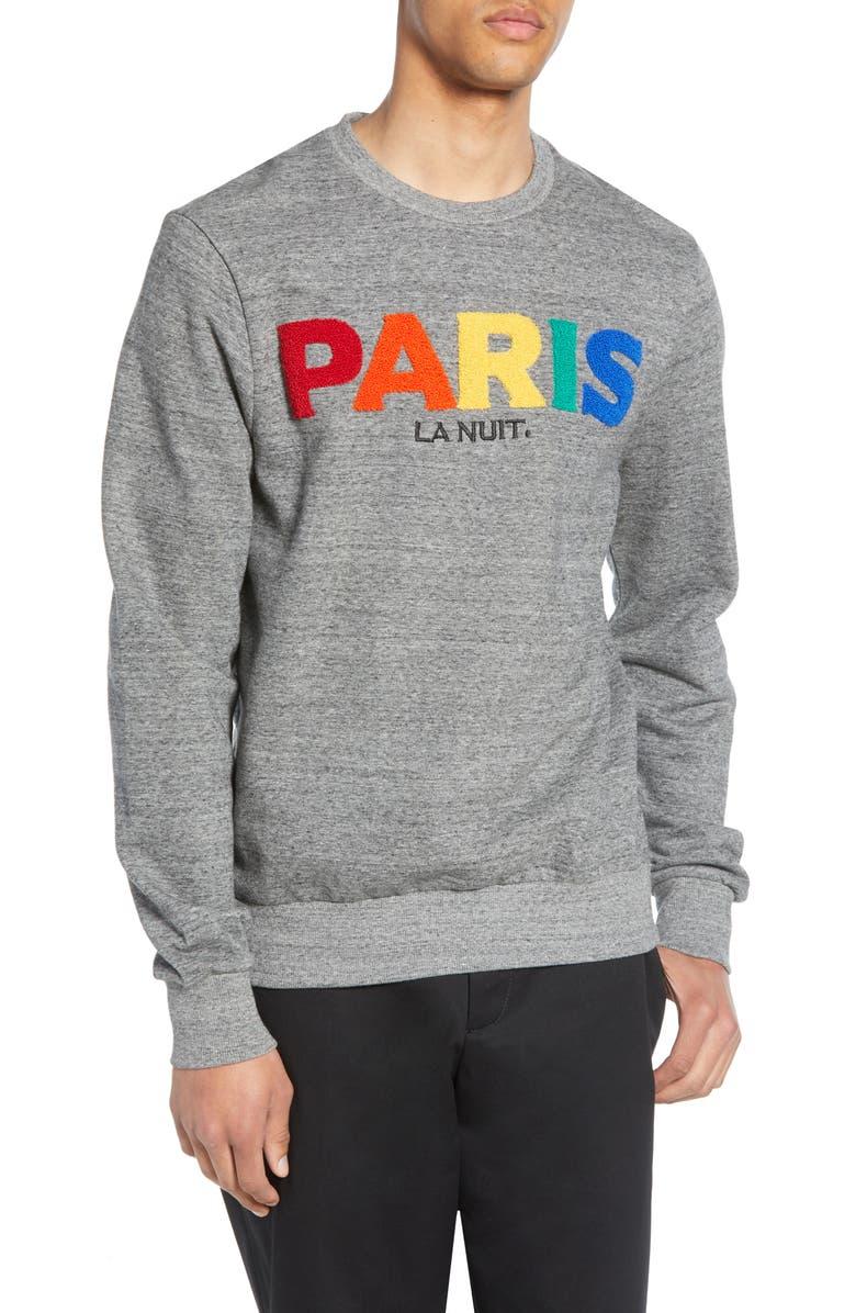 ELEVENPARIS Miris Paris Bouclé Crewneck Sweatshirt, Main, color, 062