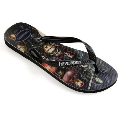 Havaianas Top Marvel Flip Flop, /10- Black