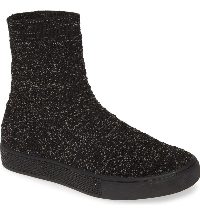 BERNIE MEV. Skylar Bootie, Main, color, BLACK/ SMOKE FABRIC