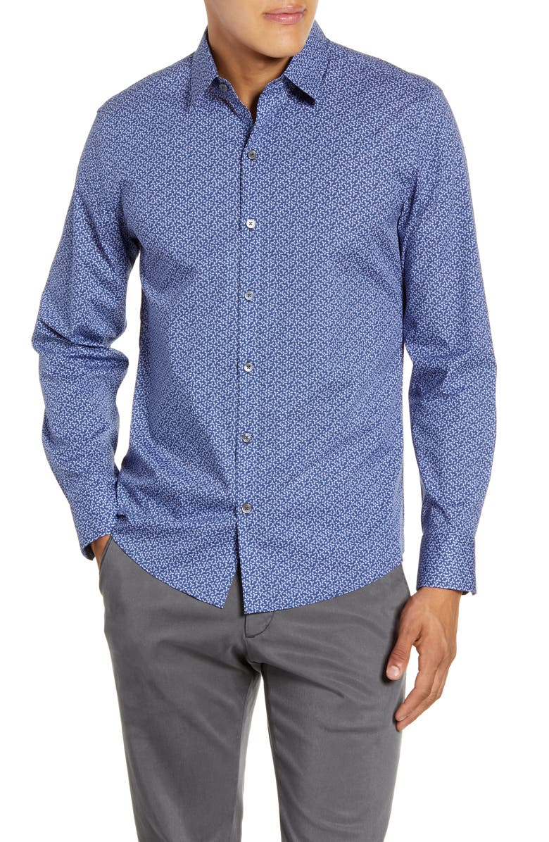 ZACHARY PRELL Wilkerson Regular Fit Button-Up Shirt, Main, color, PALE BLUE