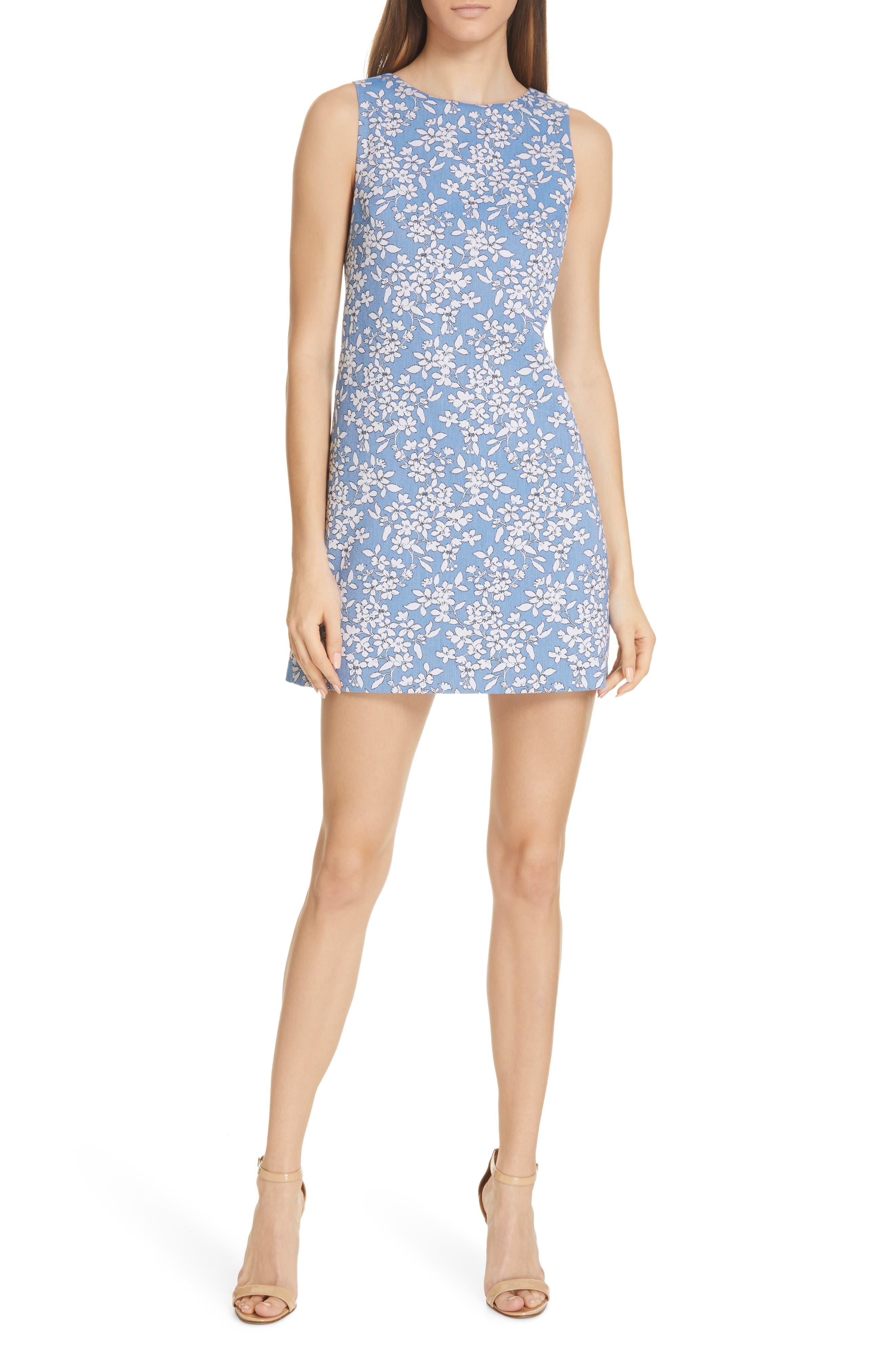 Alice + Olivia Clyde A-Line Minidress, Blue