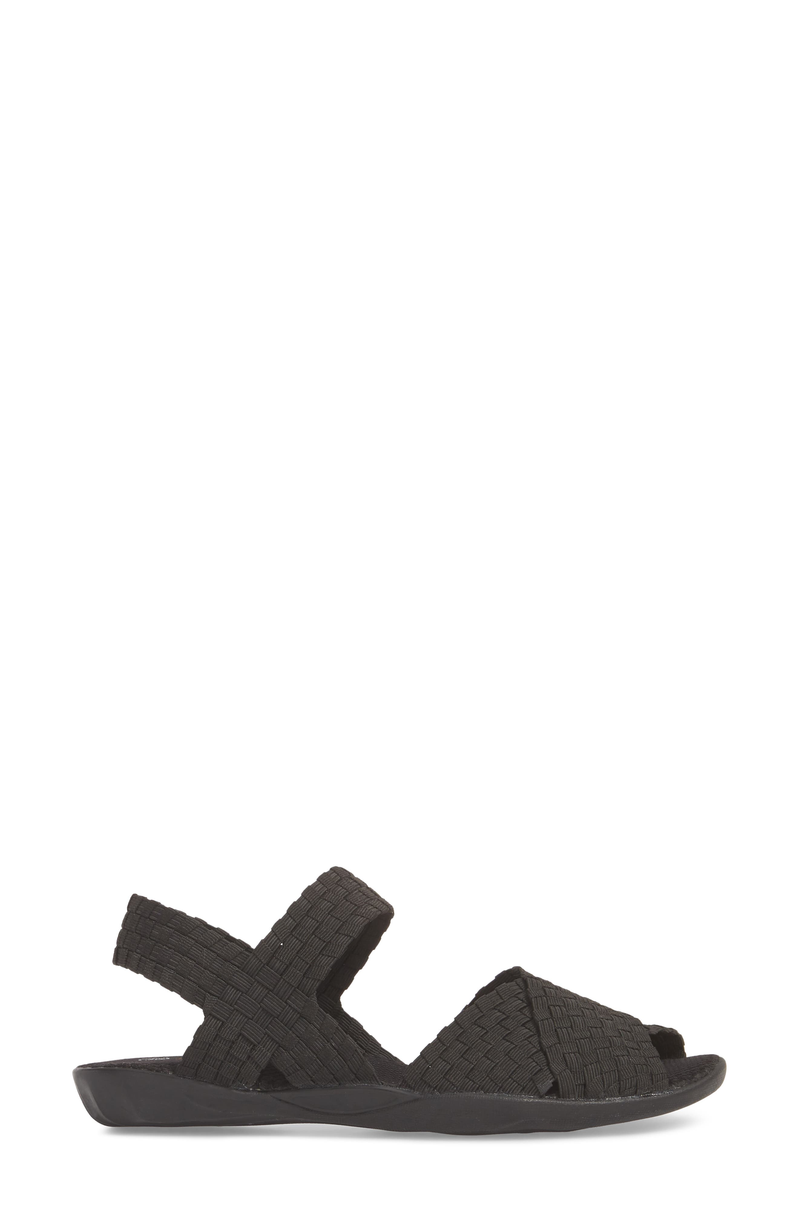 ,                             Balmy Sandal,                             Alternate thumbnail 3, color,                             BLACK FABRIC