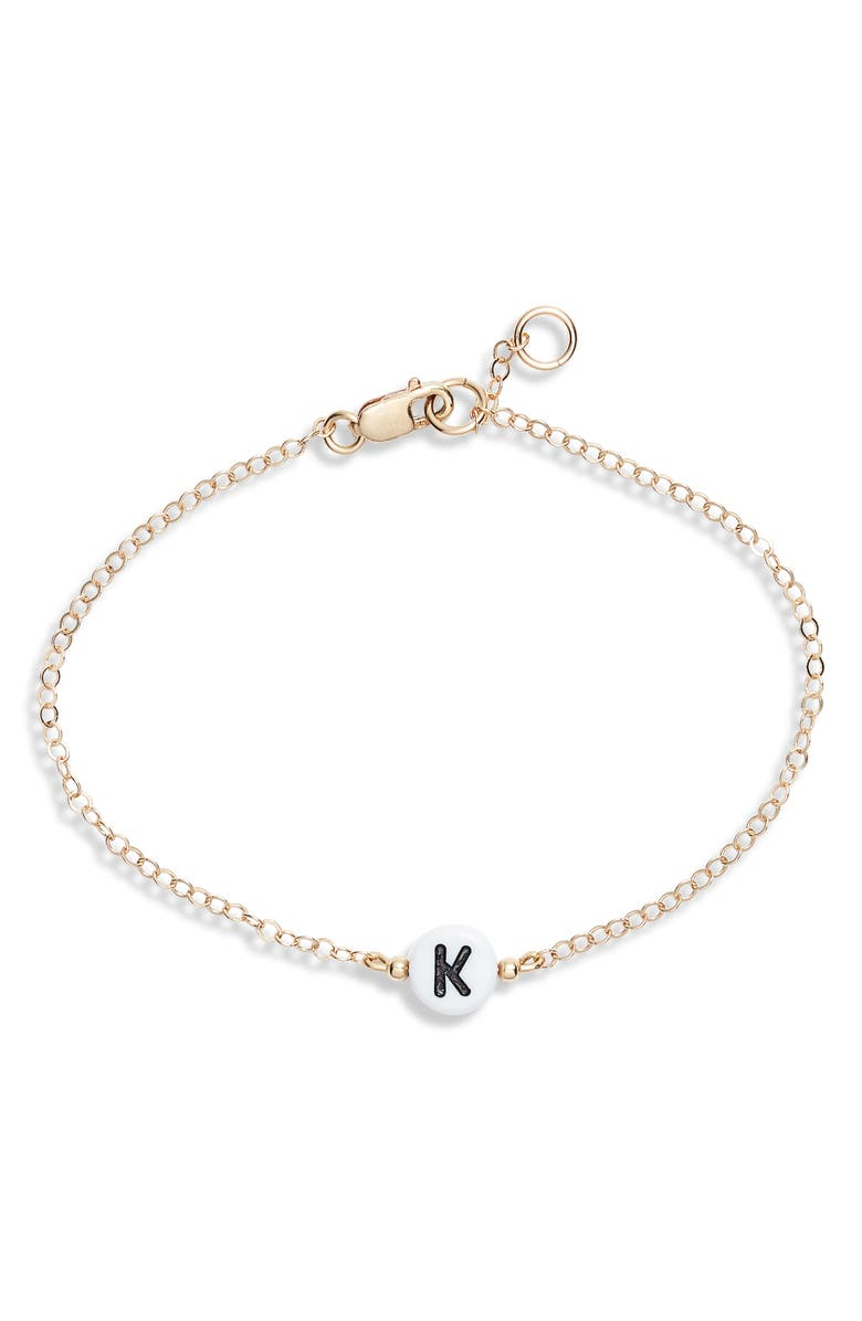 RYAN PORTER Initial Chain Bracelet, Main, color, GOLD-K