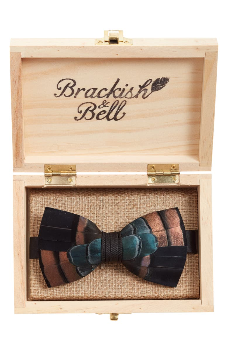 Brackish Bell Keel Feather Bow Tie