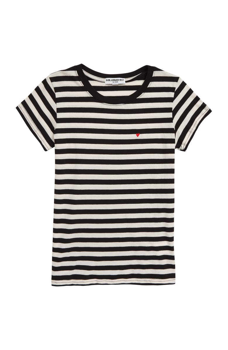 SUB_URBAN RIOT Chelsea Heart Embroidered Tee, Main, color, 001