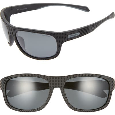 Polaroid Plastic Wrap 6m Polarized Sunglasses - Black