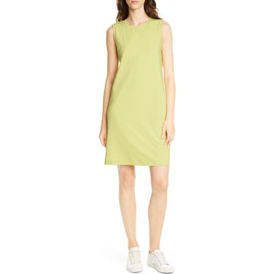 Eileen Fisher Stretch Organic Cotton Knee Length Tank Dress, Green