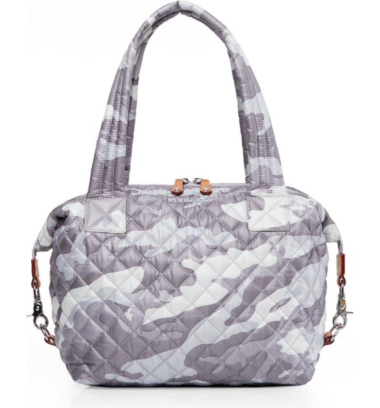 MZ WALLACE Medium Sutton Bag, Main, color, LIGHT GREY CAMO