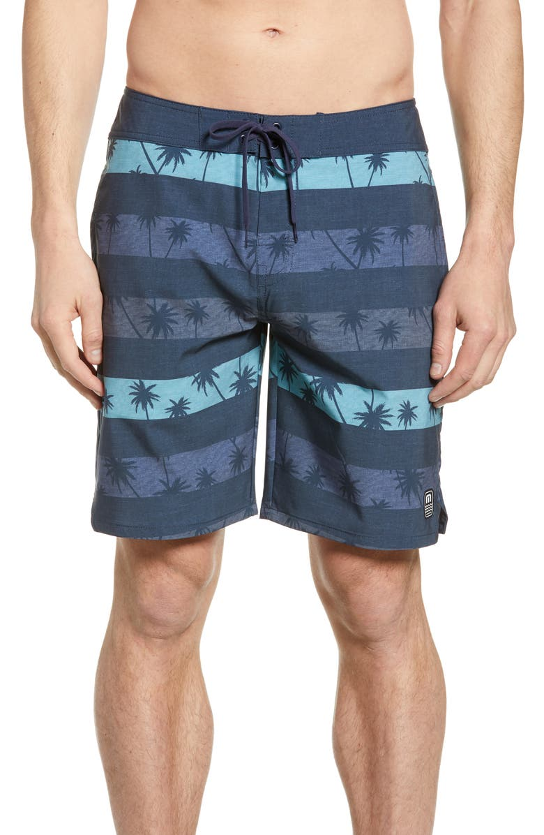 TRAVISMATHEW SS Minnow Board Shorts, Main, color, HEATHER BLUE NIGHTS