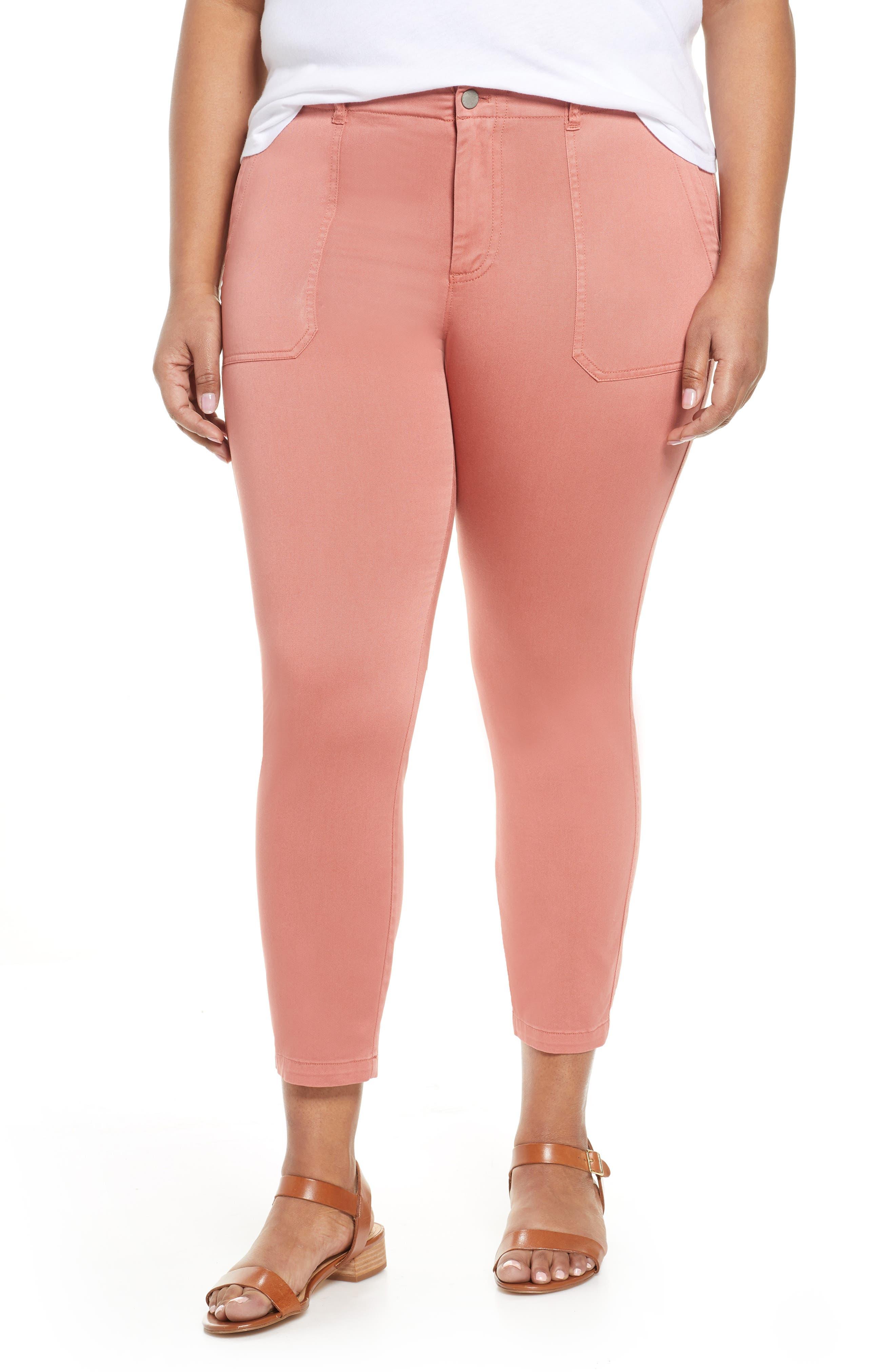 CaslonR Plus  Women's Caslon Crop Utility Pants,  24 - Pink