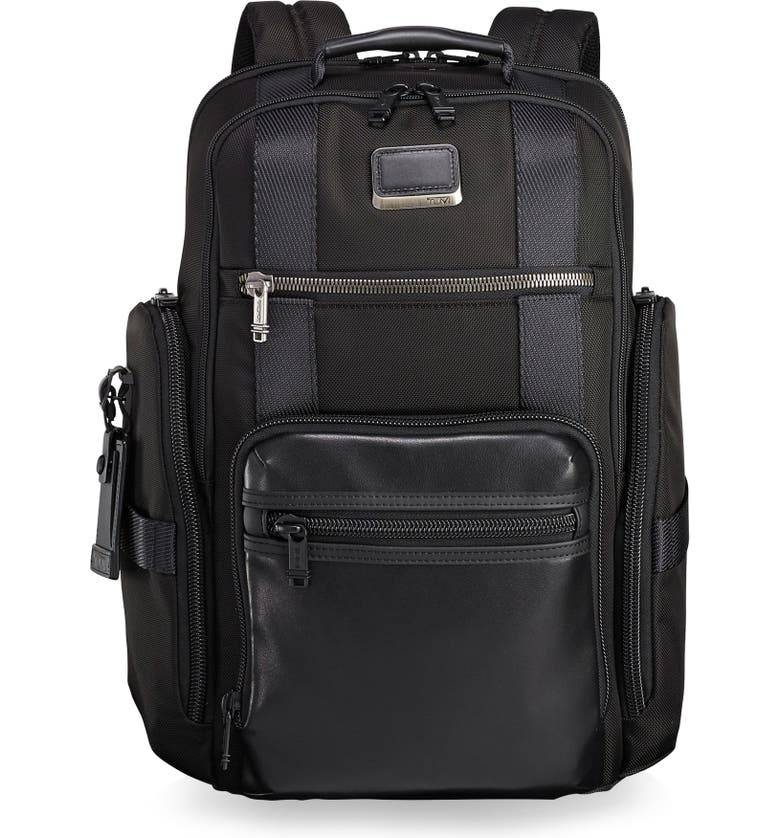 TUMI Alpha Bravo - Sheppard Deluxe Backpack, Main, color, BLACK