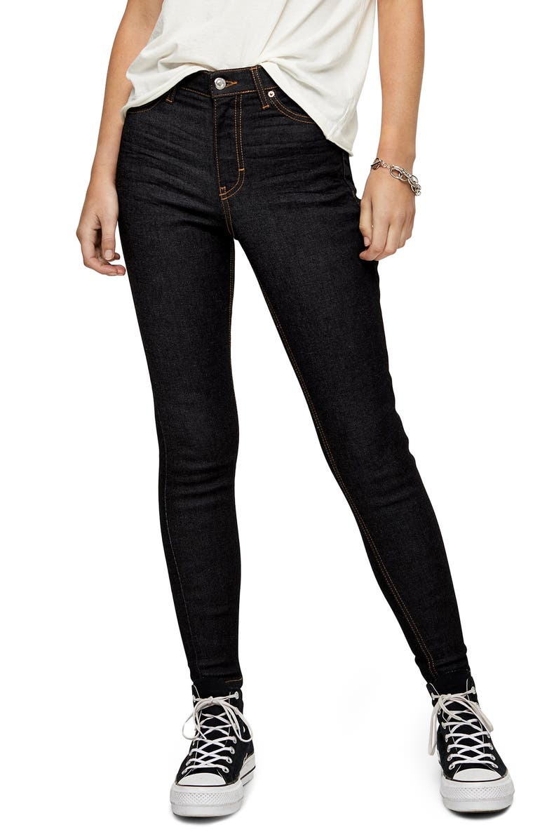 TOPSHOP Jamie Topstitch Jeans, Main, color, INDIGO