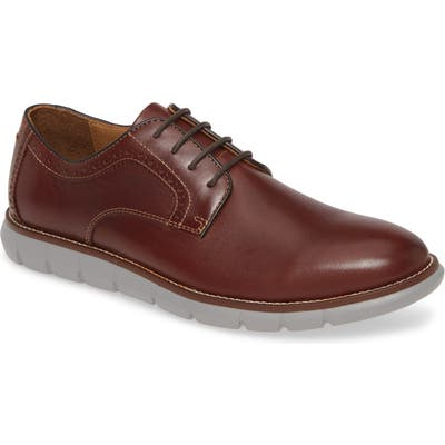 Johnston & Murphy Holden Plain Toe Derby, Brown