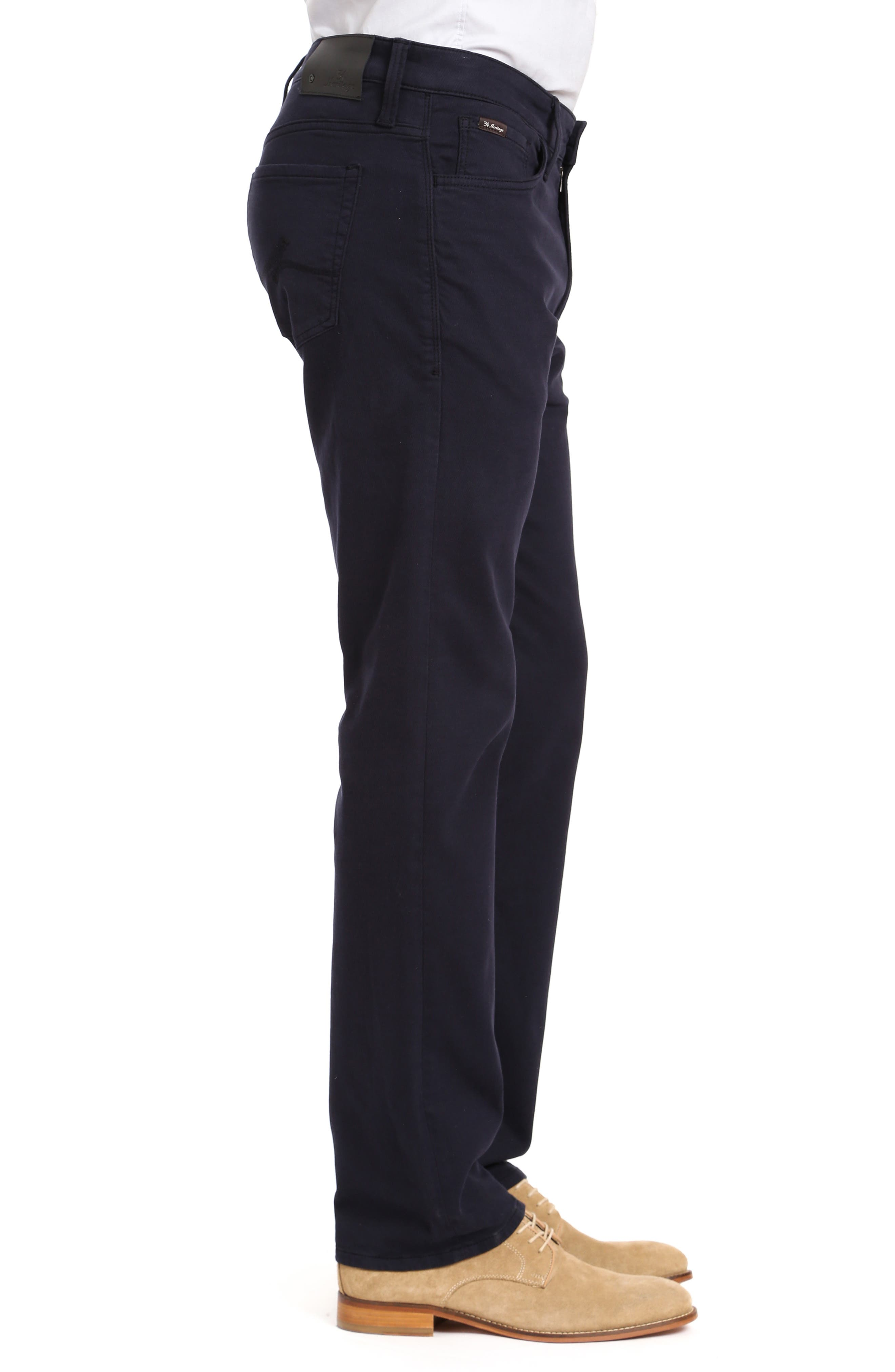 ,                             Courage Straight Leg Jeans,                             Alternate thumbnail 3, color,                             NAVY WASHED LUXE