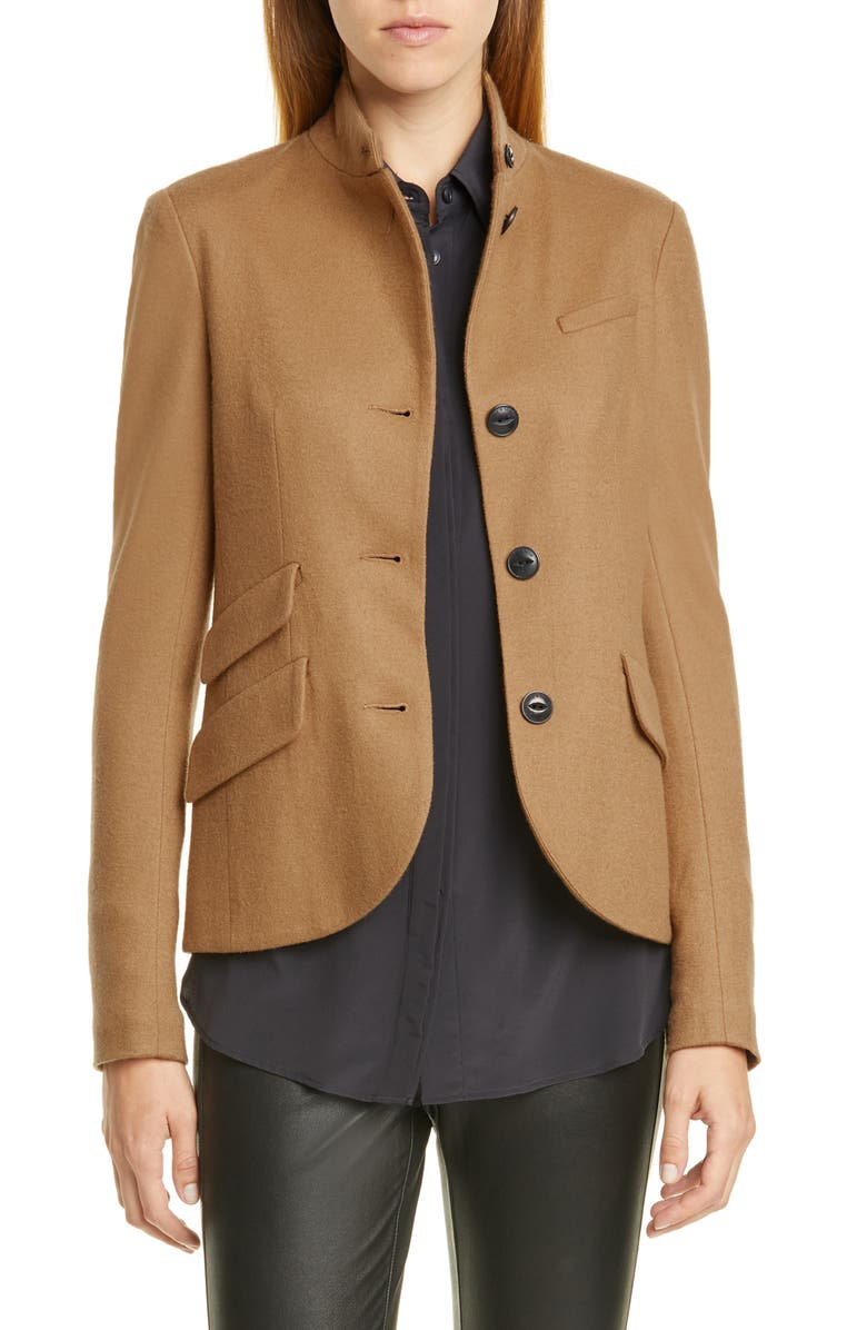 RAG & BONE Slade Wool Blazer, Main, color, DARK CAMEL