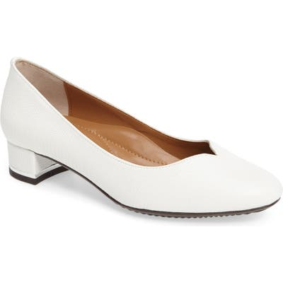 J. Renee Bambalina Block Heel Pump, White