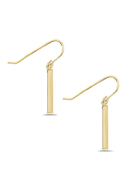 Image of Best Silver Inc. 14K Yellow Gold Bar Drop Earrings