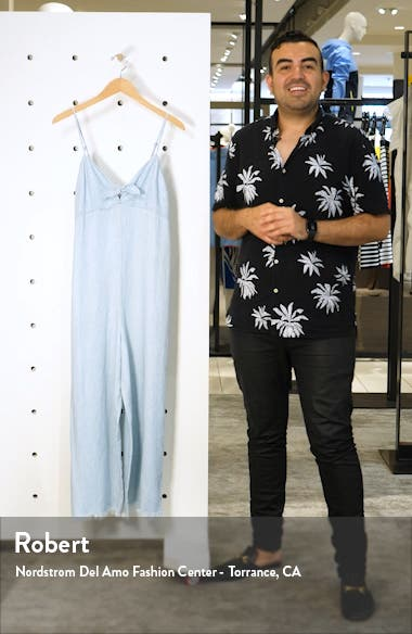 Paolo Chambray Wide Leg Jumpsuit, sales video thumbnail