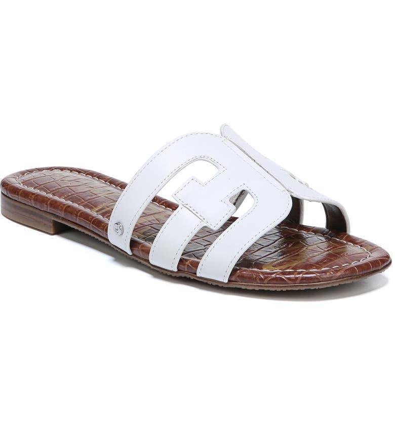 SAM EDELMAN Bay Cutout Slide Sandal, Main, color, BRIGHT WHITE LEATHER