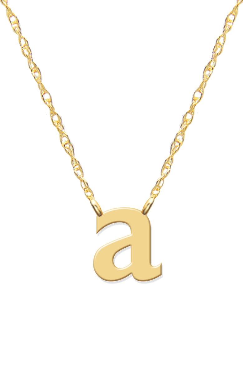 JANE BASCH DESIGNS Lowercase Initial Pendant Necklace, Main, color, GOLD- A