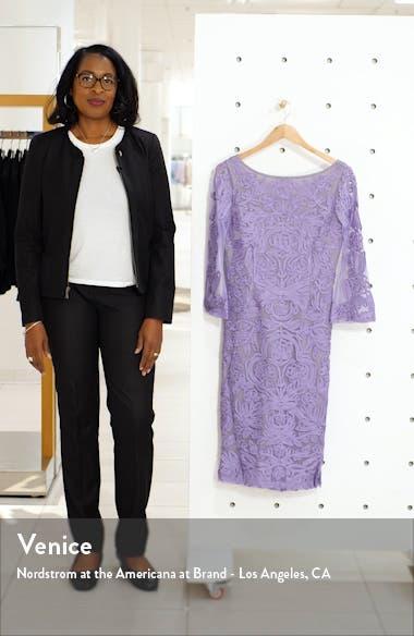 Soutache Chiffon Sheath Dress, sales video thumbnail