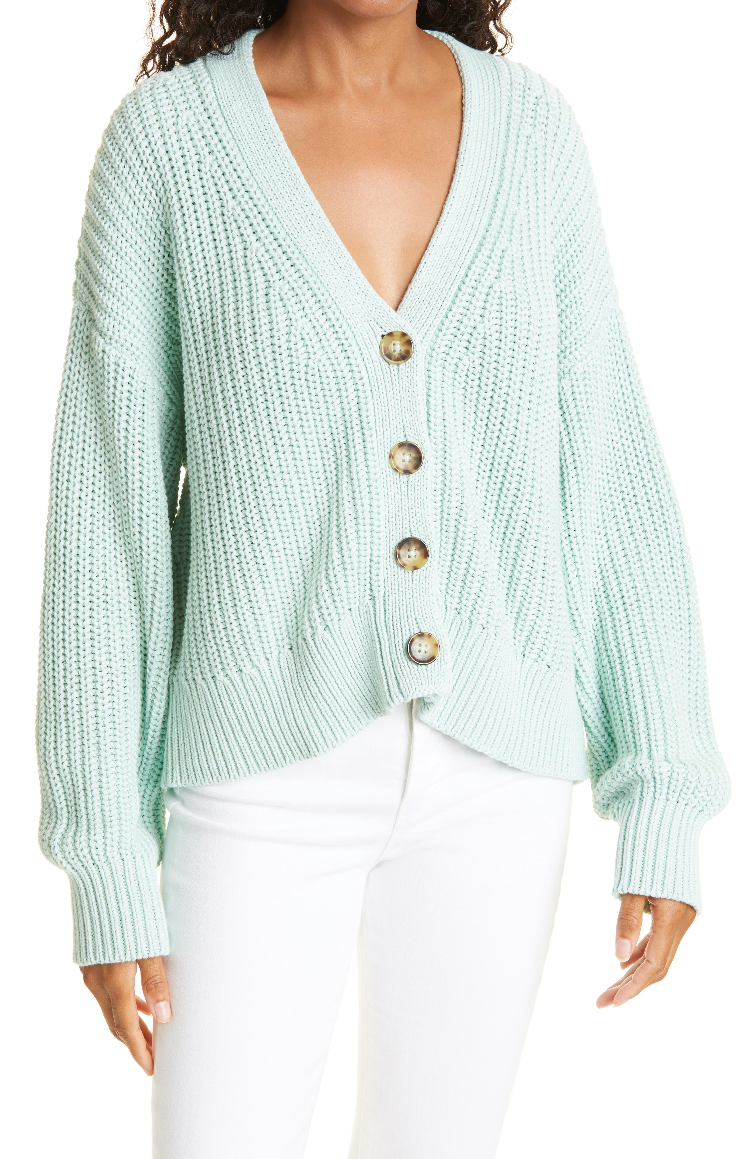 Chunky Cotton Cardigan Sweater