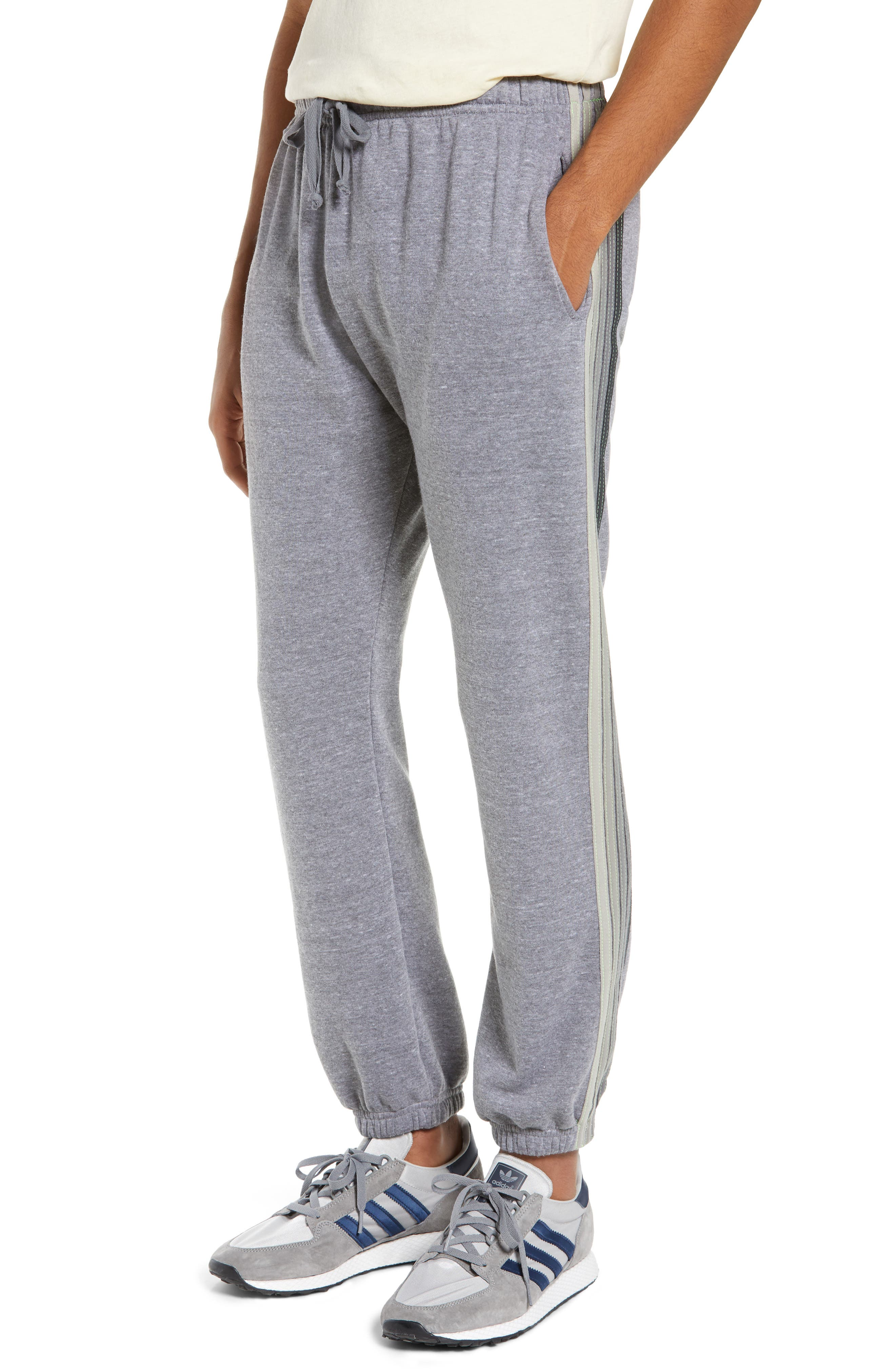 Aviator Nation 5-Stripe Slim Fit Sweatpants, Grey