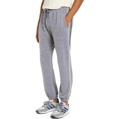 Aviator Nation 5-Stripe Slim Fit Sweatpants, Grey