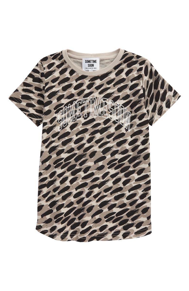 SOMETIME SOON Mercer Print T-Shirt, Main, color, GREY
