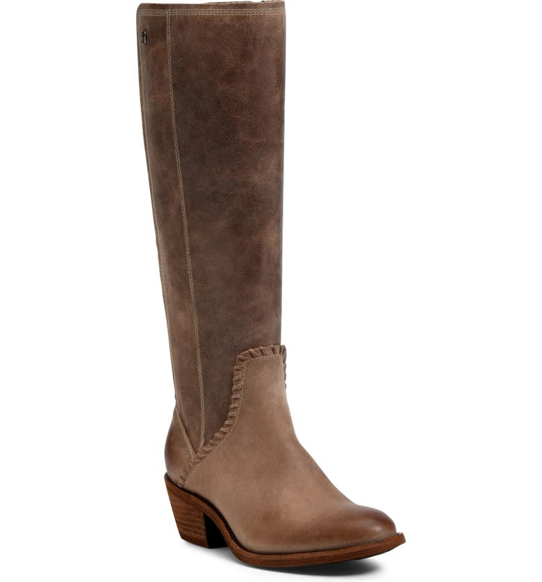 SÖFFT Anniston Knee High Boot, Main, color, LIGHT TAUPE LEATHER