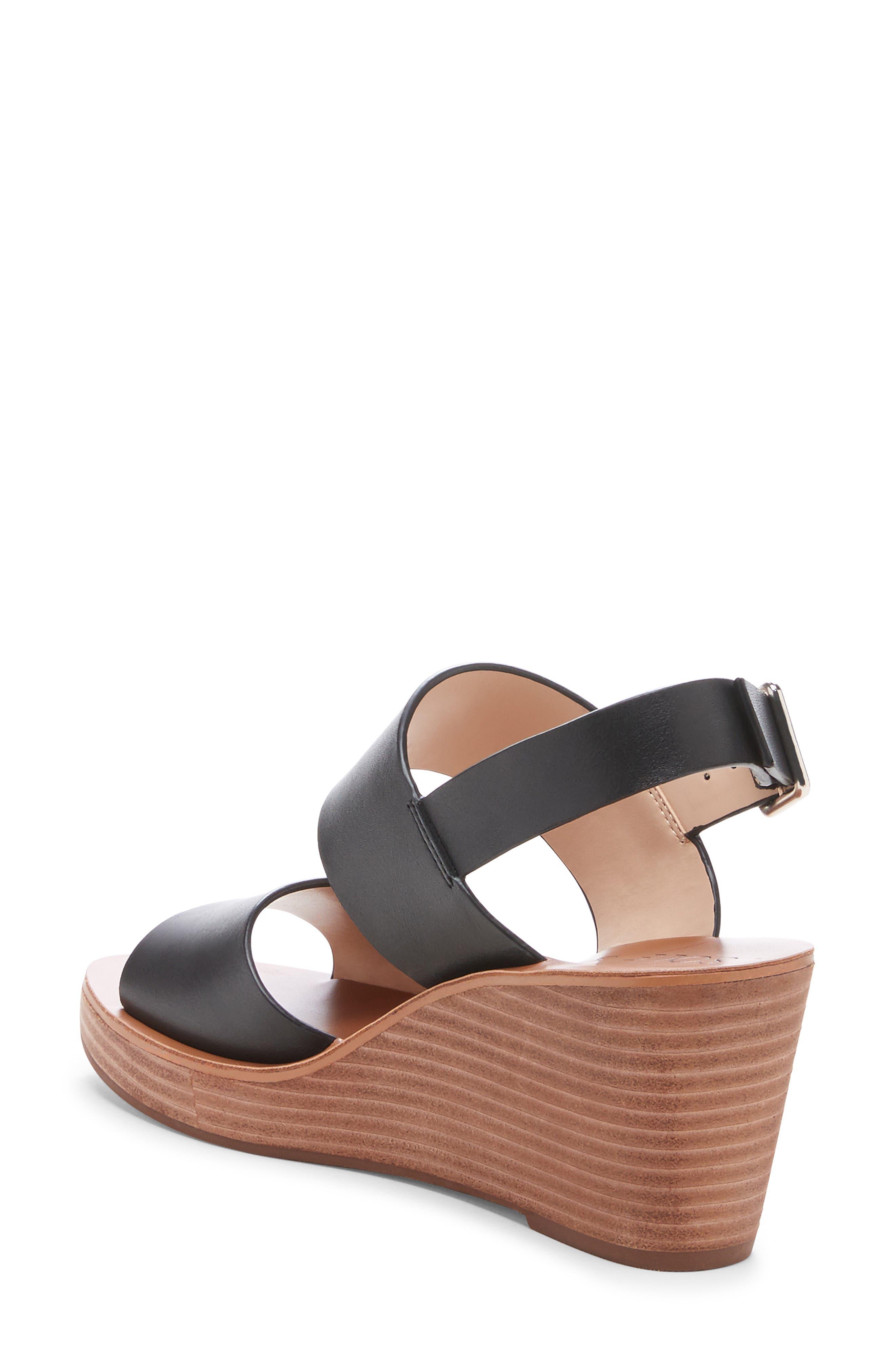 ,                             Pavlina Platform Wedge Sandal,                             Alternate thumbnail 2, color,                             BLACK LEATHER