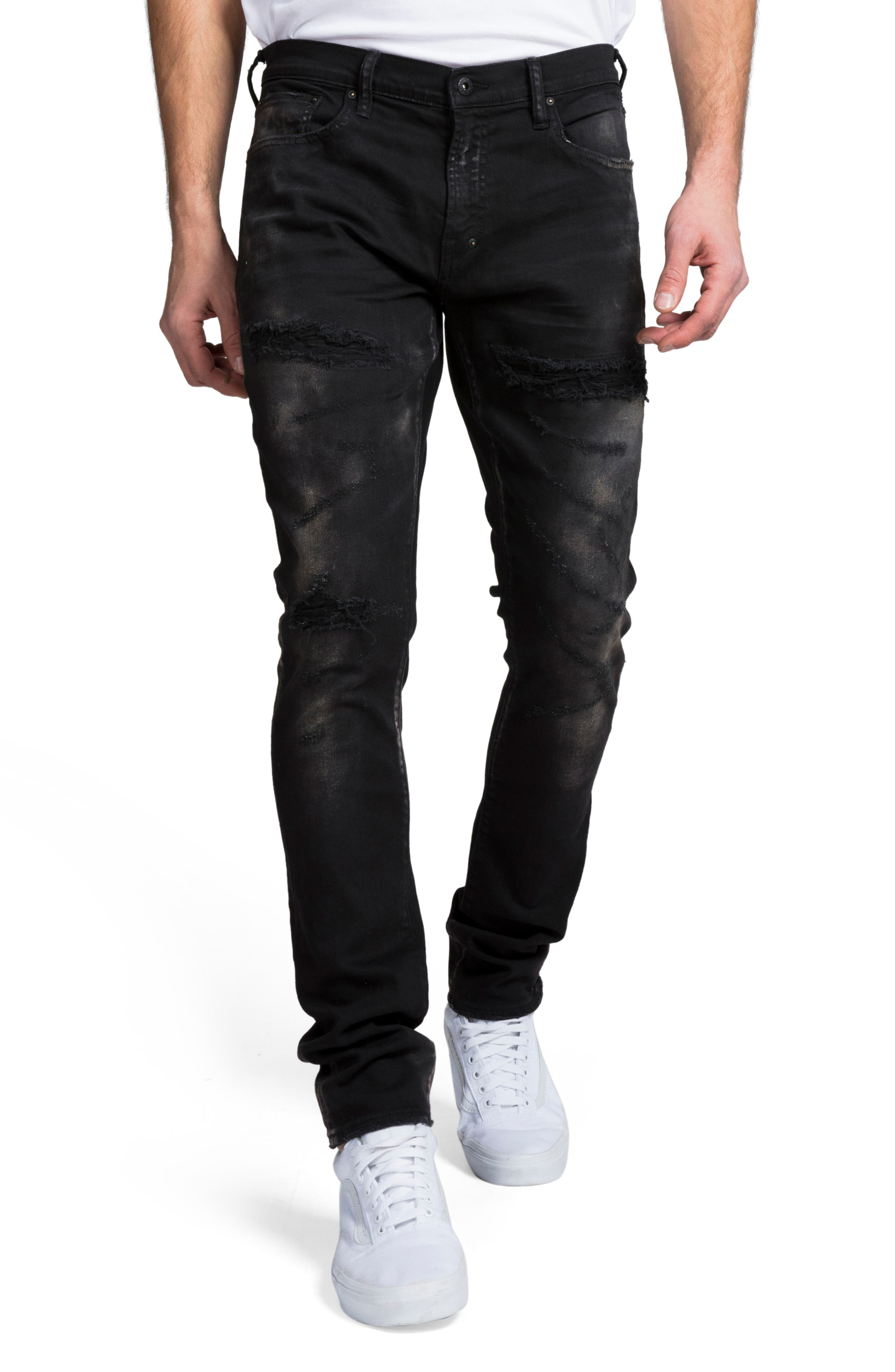 Windsor Slim Fit Jeans, Main, color, BLACK