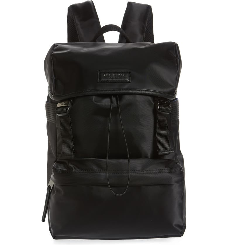 TED BAKER LONDON Trekked Backpack, Main, color, BLACK