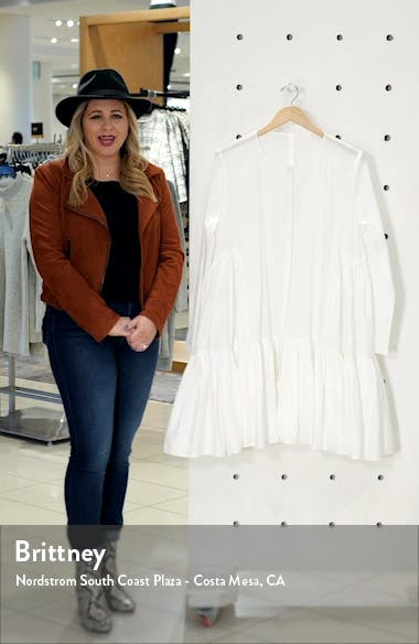 Martel Long Sleeve Cotton Tunic Dress, sales video thumbnail