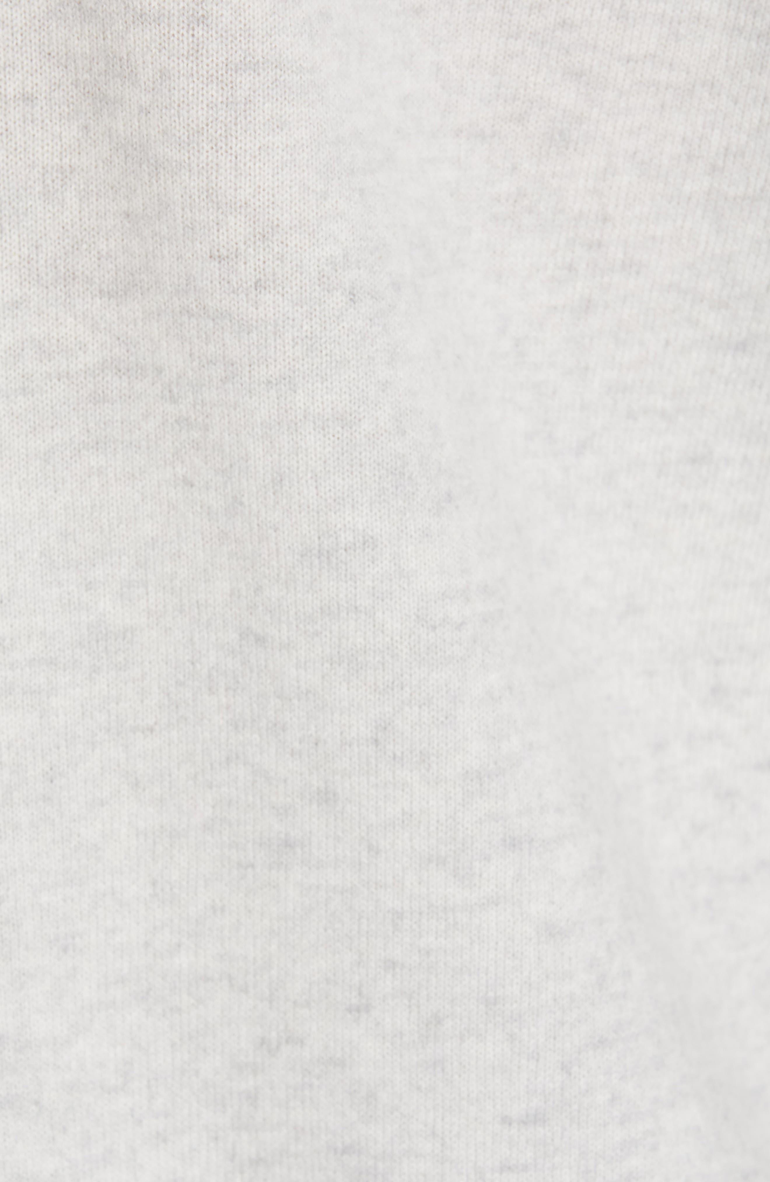 ,                             Boxy Cashmere Sweater,                             Alternate thumbnail 5, color,                             LIGHT HEATHER GREY