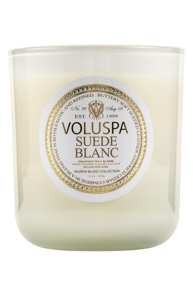 VOLUSPA Maison Blanc Suede Blanc Classic Maison Candle, Main, color, 000