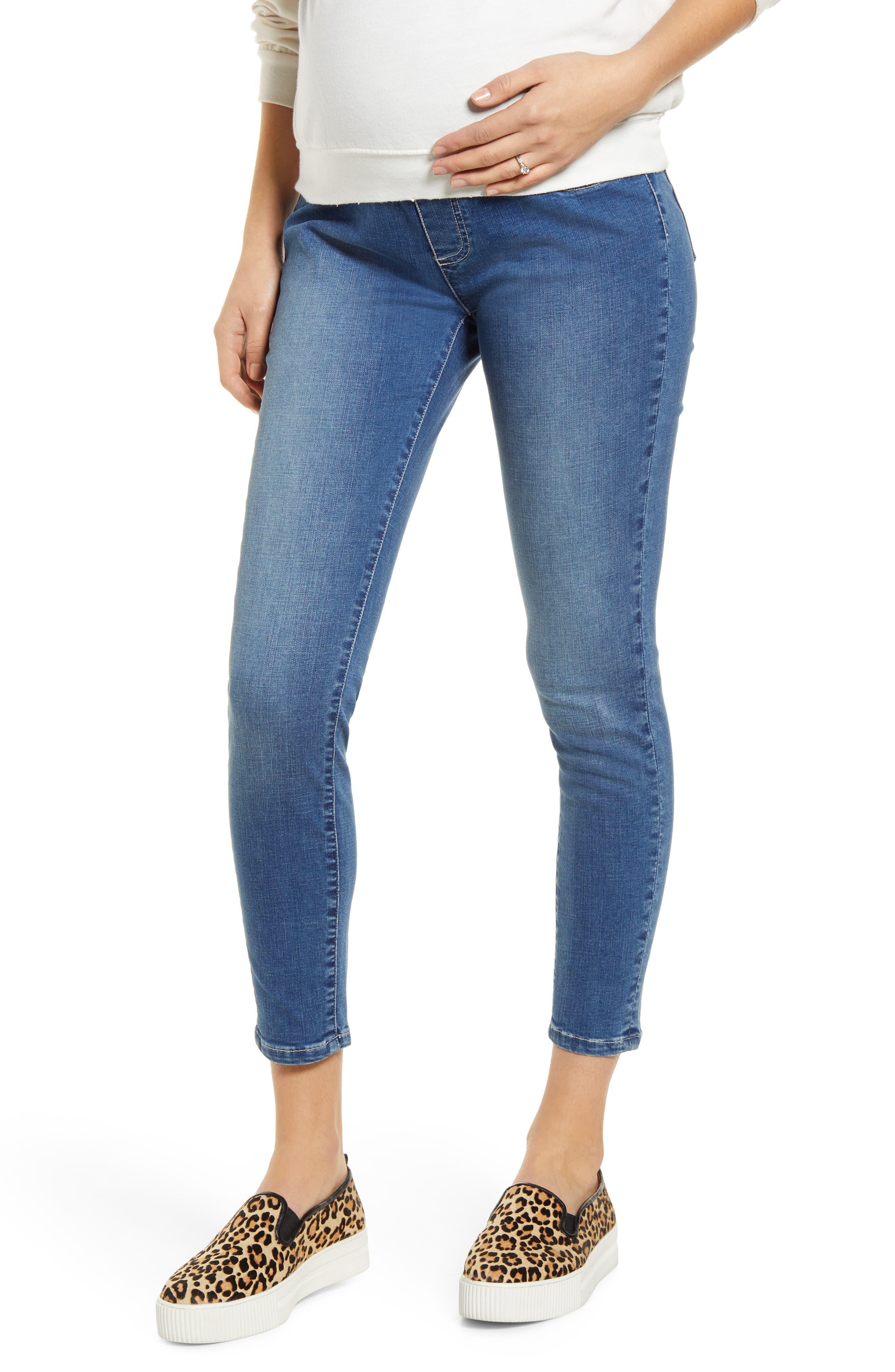High Waist Crop Maternity Jeans