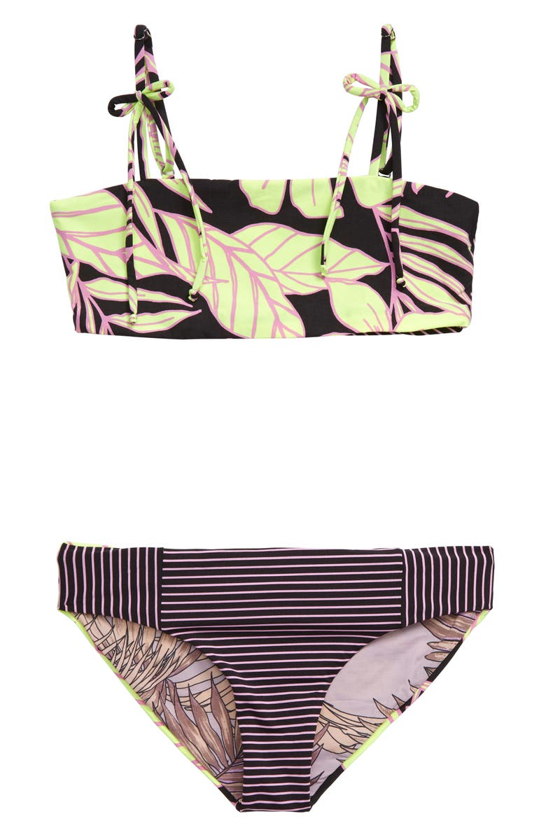 MAAJI Kamali Sophie Reversible Two-Piece Swimsuit, Main, color, BLACK