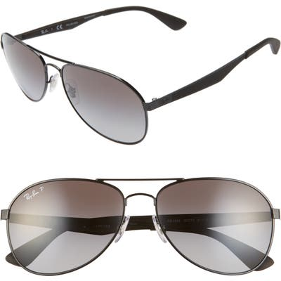 Ray-Ban Active Lifestyle 61Mm Polarized Pilot Sunglasses - Black