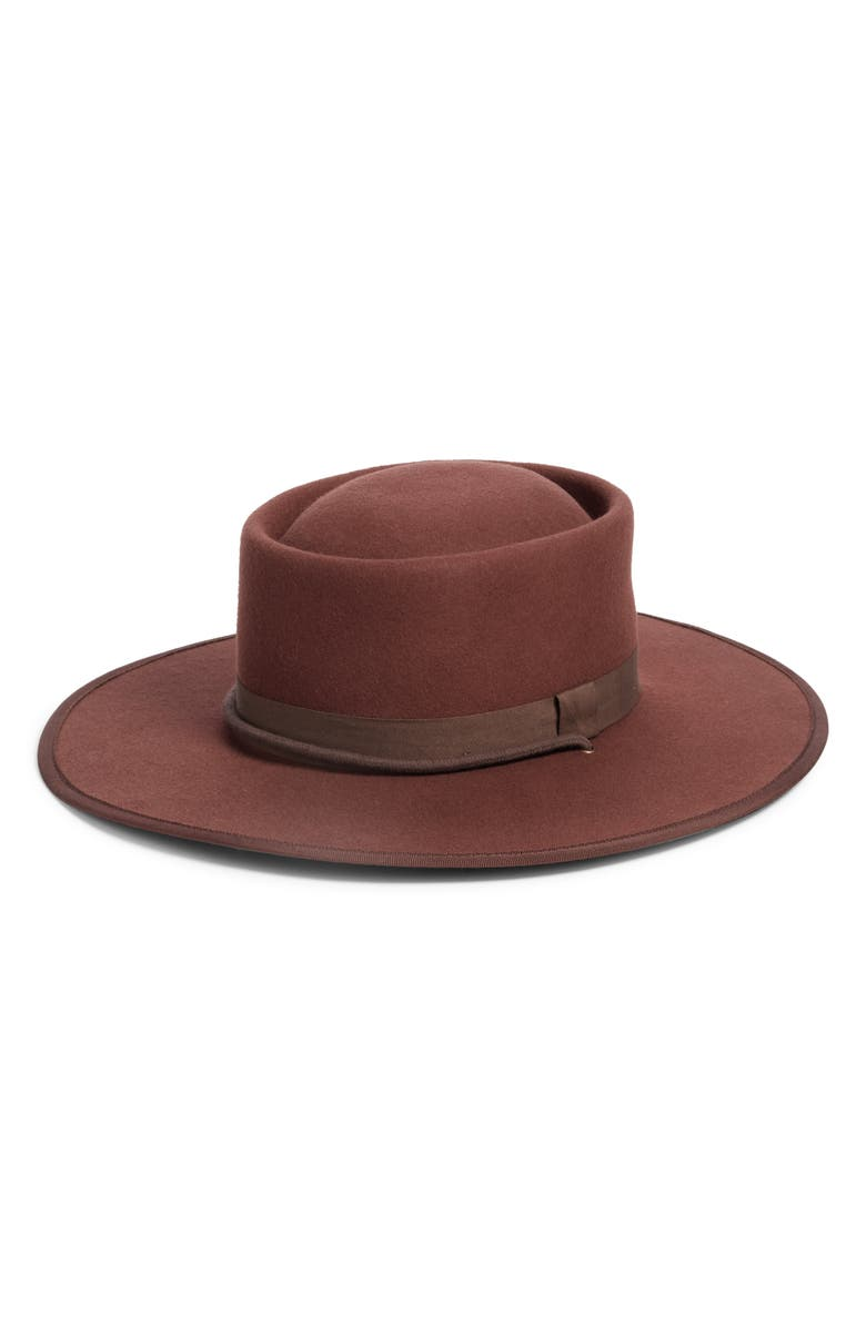 MADEWELL Dipped Crown Felt Hat, Main, color, 200