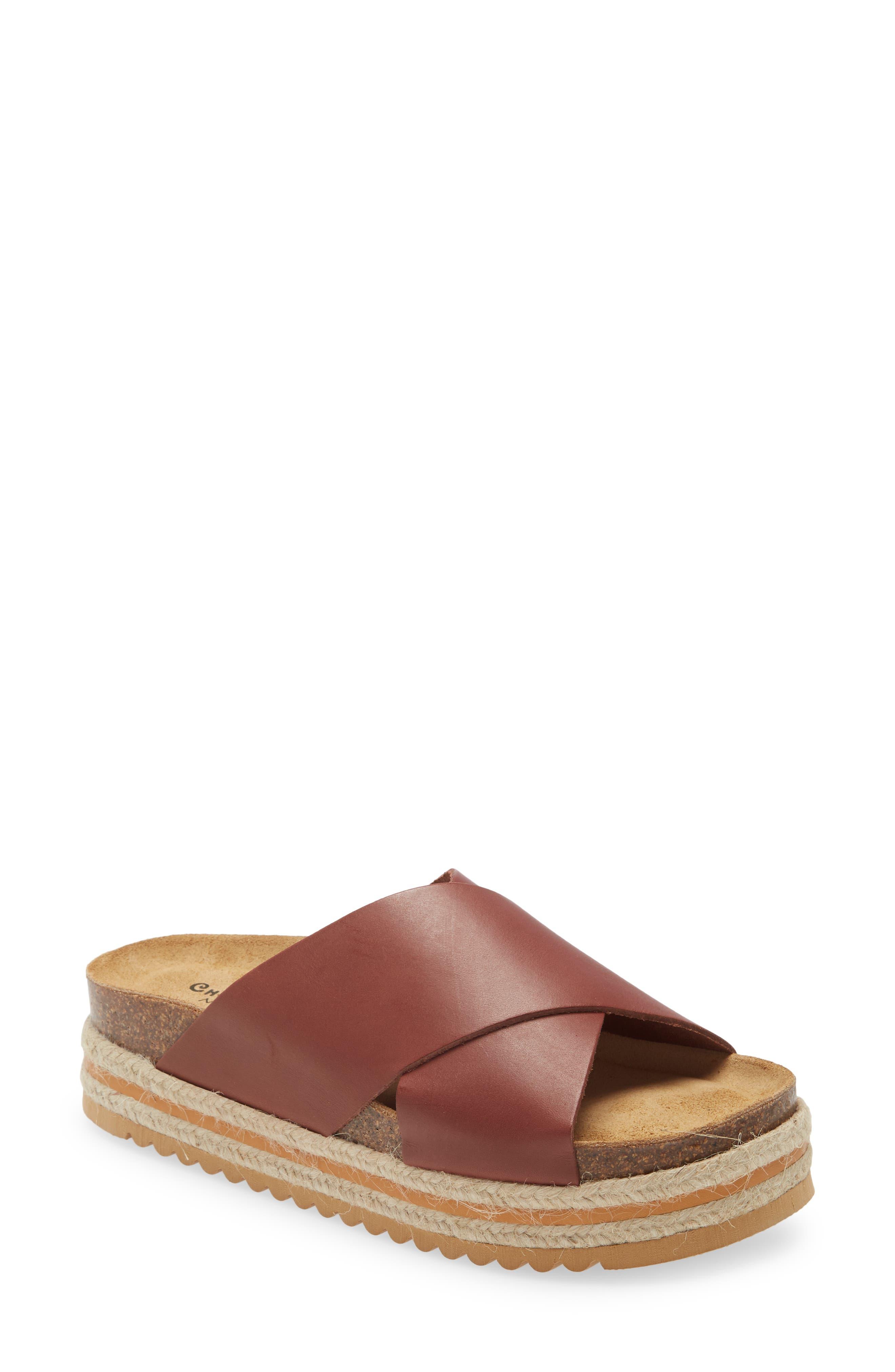 e Lina Platform Slide Sandal