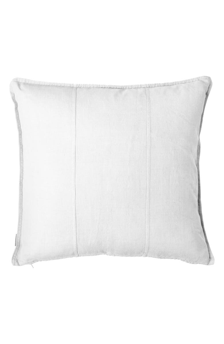 EADIE LIFESTYLE Luca Linen Accent Pillow, Main, color, WHITE