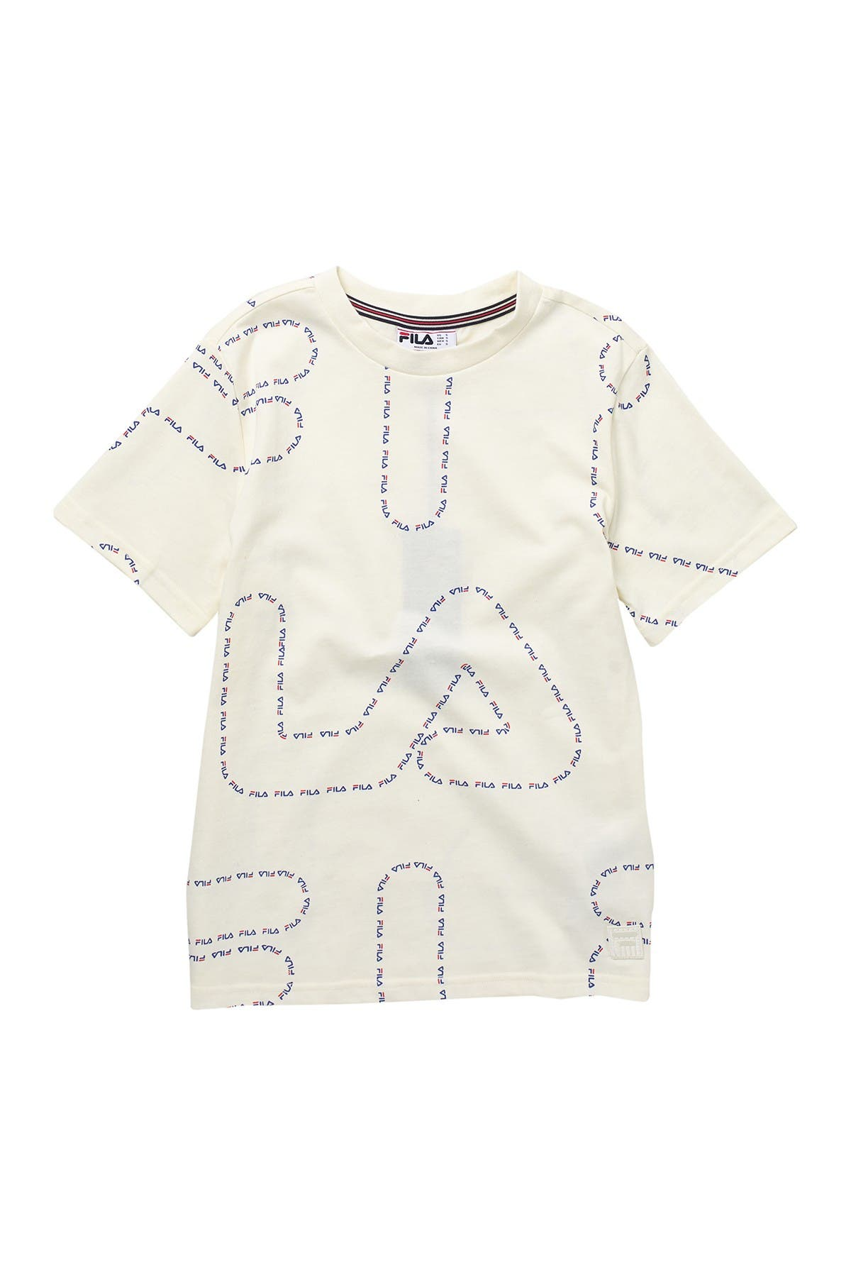 Image of FILA USA Line Allover Print T-Shirt