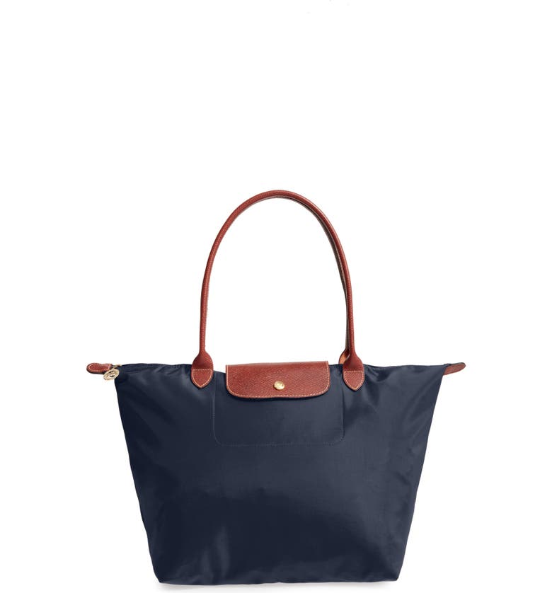 LONGCHAMP Large Le Pliage Tote, Main, color, NEW NAVY